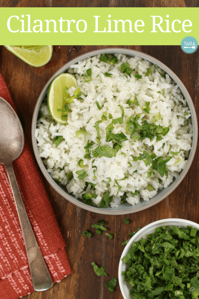 Cilantro and lime rice pin