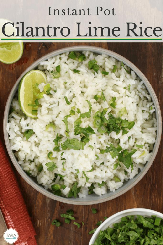 Cilantro Lime Rice Instant Pot Pin