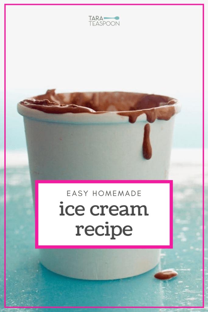 easy homemade ice cream recipe pin