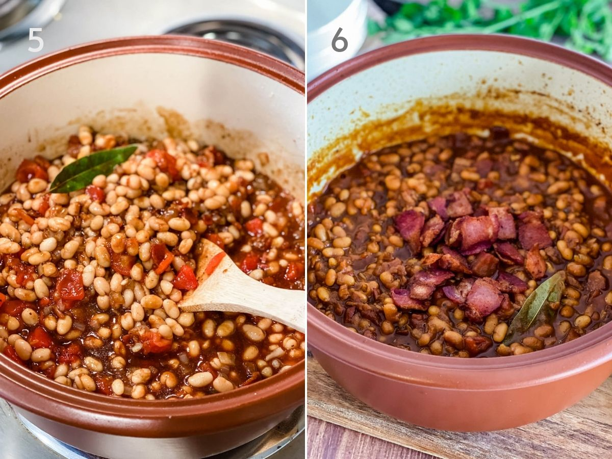 process of boston baked beans in pot