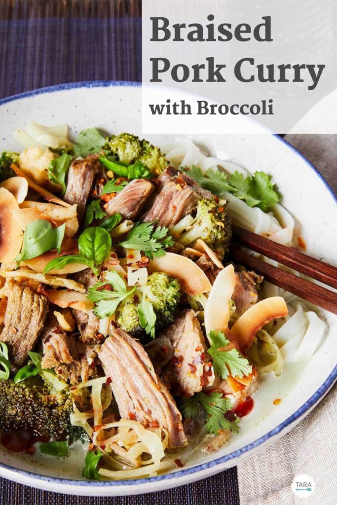 Braised Pork Curry with Broccoli