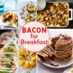 collage of bacon recipes for breakfast