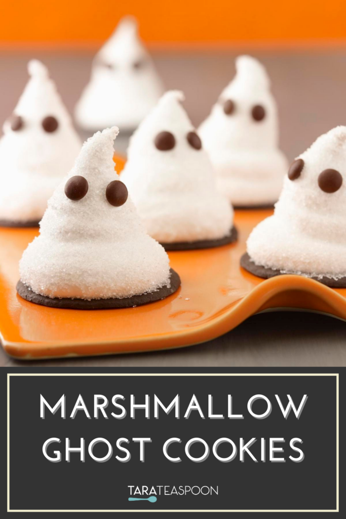 Marshmallow ghost cookies