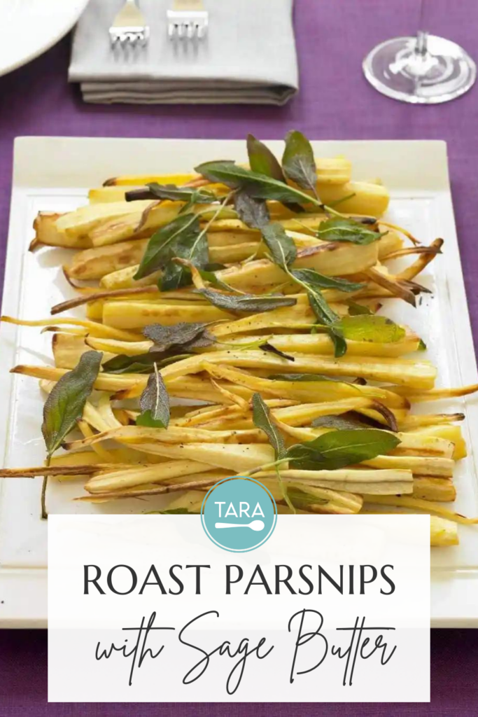 Roast Parsnips with Sage Butter