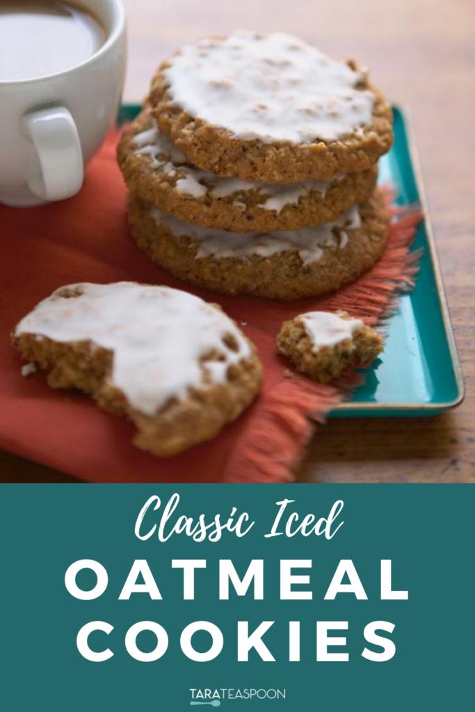 Classic Iced Oatmeal Cookies